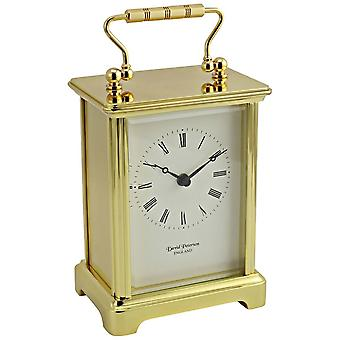 David Peterson Obis Quartz Carriage Clock - Gold