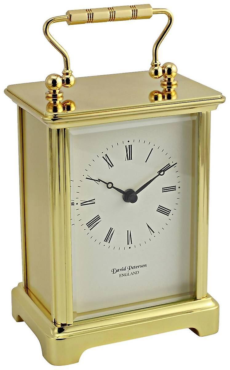 David Peterson Obis Quartz Carriage Clock - or