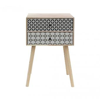 Contemporary Design style bedside table With 2 drawers-Re6118-Rebecca's Furniture
