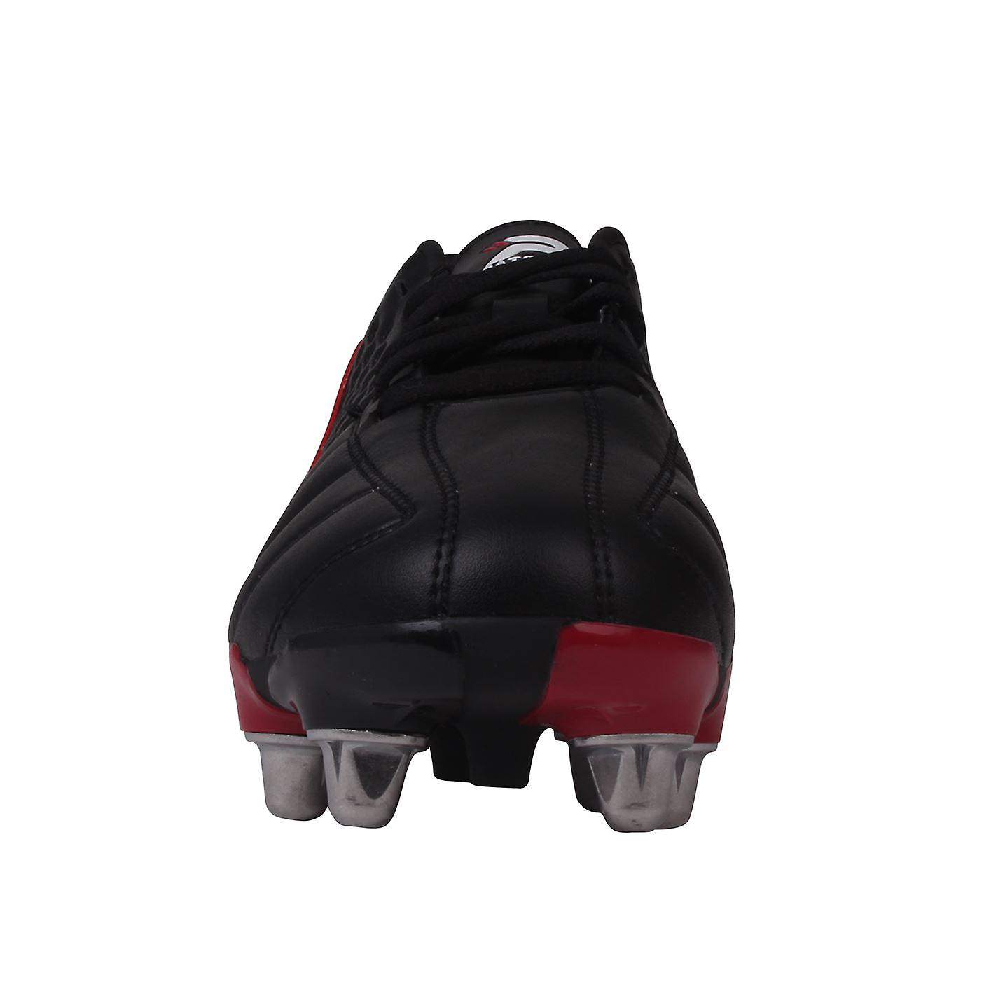 dc4ae0360 Patrick Kids Power X Junior Rugby Boots Lace Up Padded Heel Ankle Collar  Shoes