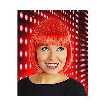 Pelucas peluca bob rojo con purpurina