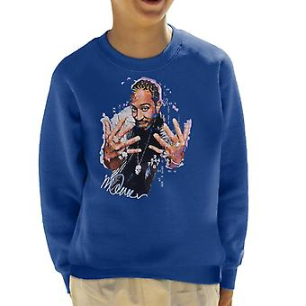 Sidney Maurer Original Portrait Of Ludacris Skull Chain Kid's Sweatshirt