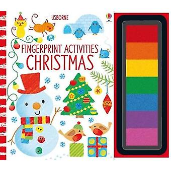 Fingerprint Activities Christmas by Fiona Watt - 9781474927963 Book