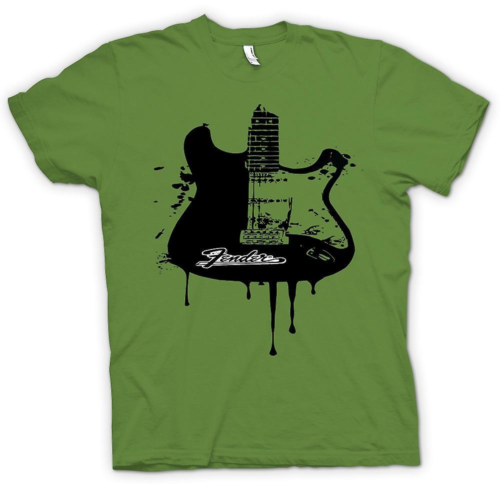 Camiseta para hombre - Fender Strat - Grunge guitarra