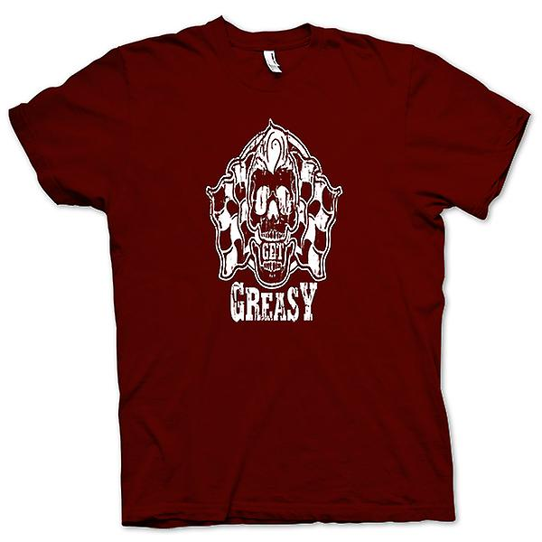 Mens T-shirt - Get Greasy - Biker