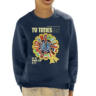 TV Times 1966 World Cup Cover Kid's Sweatshirt