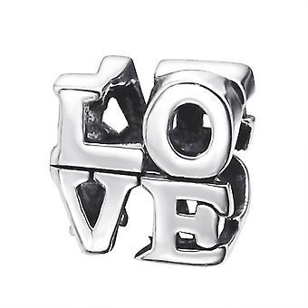 Love - 925 Sterling Silver Plain Beads - W11188X