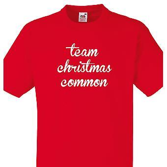 Camicia team Natale comune rosso T
