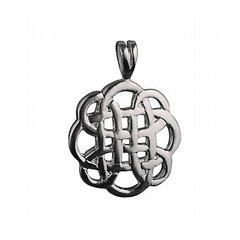 Silver 20mm round Celtic Pendant