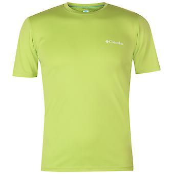 Columbia Mens noll T Shirt Kortärmad prestanda Tee topp runda hals UV