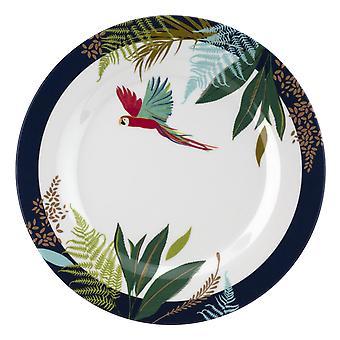 Sara Miller Parrot Set of 4 Melamine Side Plates