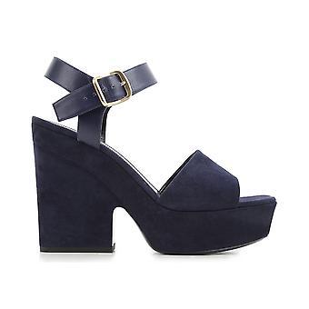 Céline Blue Suede Sandals