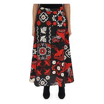 Red Valentino Multicolor Cotton Skirt