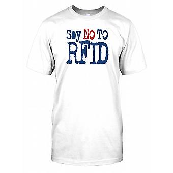 Say No to RFID - Conspiracy Mens T Shirt