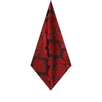 Fazzoletto da taschino rosso Mens Dobell fazzoletto raso sentire tessuto vittoriano fantasia Jacquard nozze accessorio