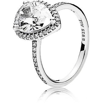 Ring 196251CZ - ring grootte PEAR vrouw Pandora