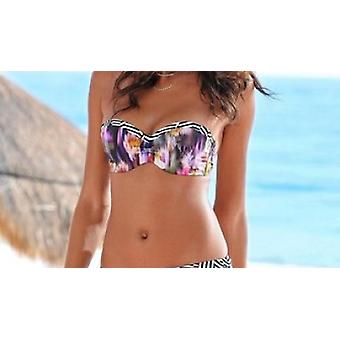 Sunseeker bikini summer women's bandeau top in the ethno-design B-Cup stained