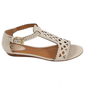Ash Footwear Moon Leather Sandal, White