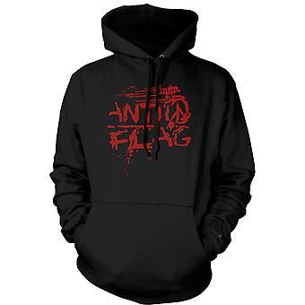Womens Hoodie - Anti - Flag - U.S. - Punkband - Anarchy