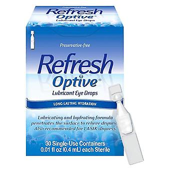 Refresh optive lubricant eye drops, single-use containers, 30 ea