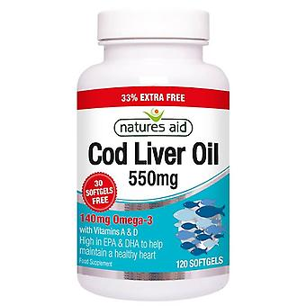 Nature's Aid Cod Liver Oil 550mg Softgels 120