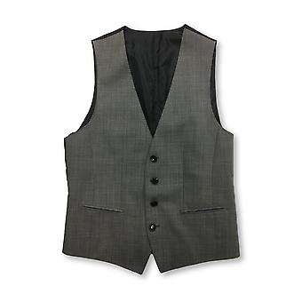 Gilet HUGO BOSS in micro pattern grigio