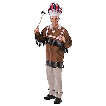 Cherokee Warrior Indian Chief Native American Western West Adult Mens Costume