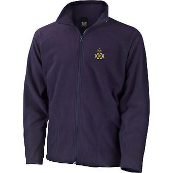 20th Hussars - Licensed British Army Embroidered Lightweight Microfleece Jacket