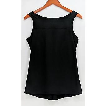Anybody Women's Top Move Stretch Jersey Square Neck Tank Black A306092