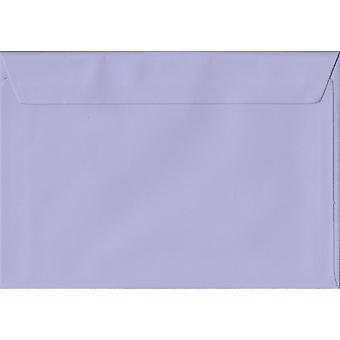Lila Peel/Seal C5/A5 gekleurde paarse enveloppen. 100gsm FSC duurzaam papier. 162 mm x 229 mm. portemonnee stijl envelop.