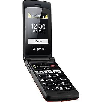 Emporia FlipBasic Botón grande teléfono móvil Estación de carga, Botón de pánico rojo