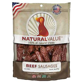 Natural Value Treats 14oz-Beef Sausages LP8072