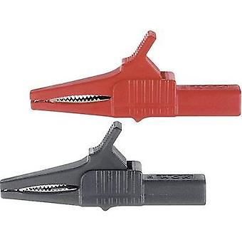 Safety terminal 4 mm jack connector CAT II 1000 V Red MultiContact XKK-1001