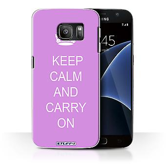 STUFF4 Case/Cover for Samsung Galaxy S7/G930/Carry On/Pink/Keep Calm