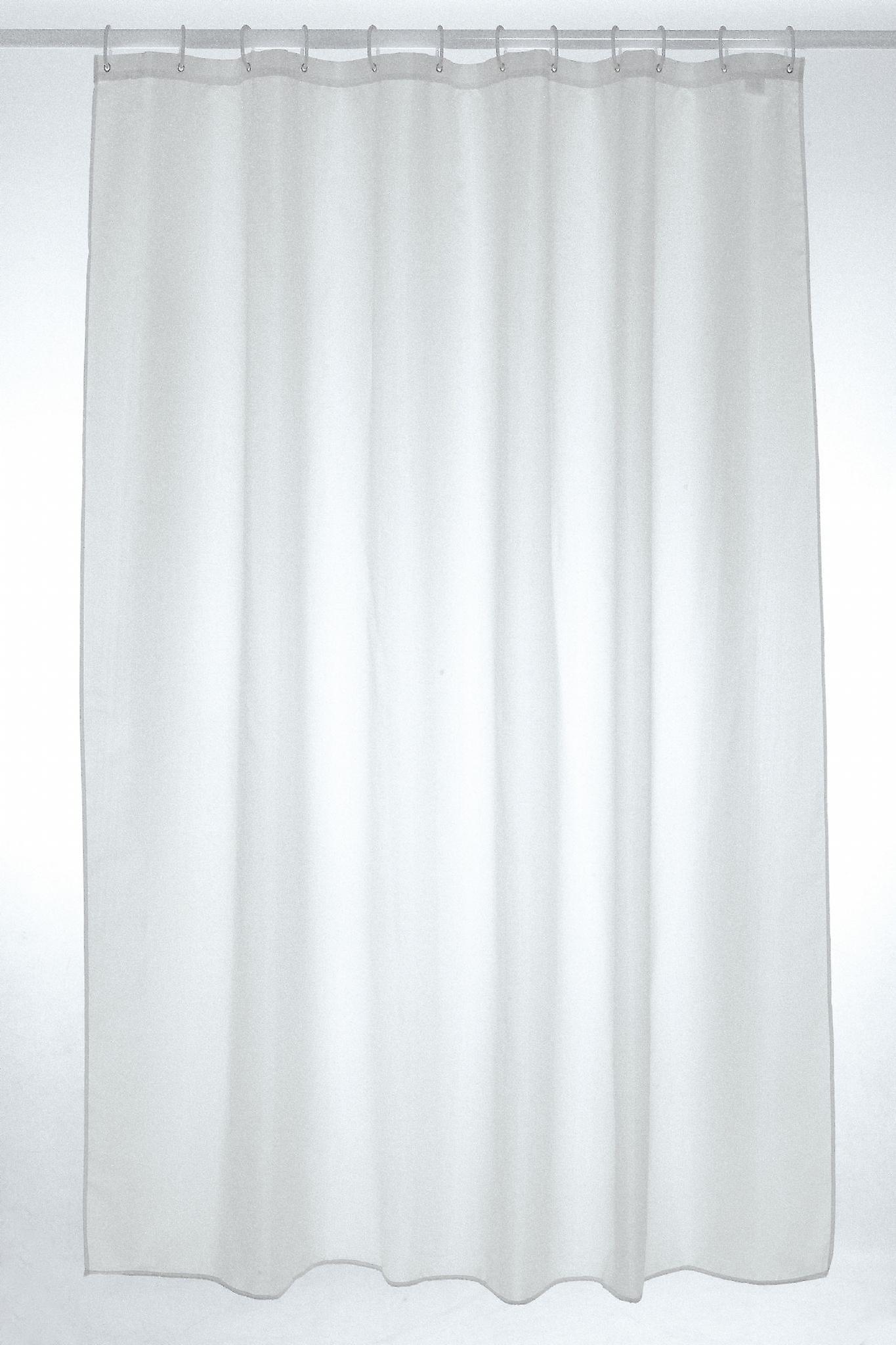 Cortina de ducha del poliester blanco llano 180 x 220cm