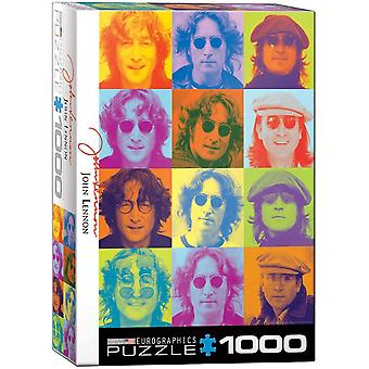 John Lennon Multi Coloured Images 1000 piece jigsaw puzzle   680mm x 490mm    (pz)