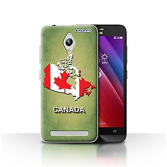 STUFF4 Case/Cover for Asus Zenfone Go ZC500TG/Canada/Canadian/Flag Nations