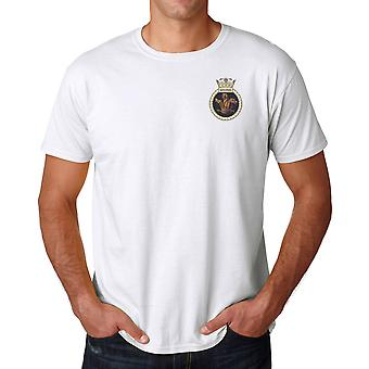 HMS Sentinel Embroidered Logo - Official Royal Navy Ringspun T Shirt