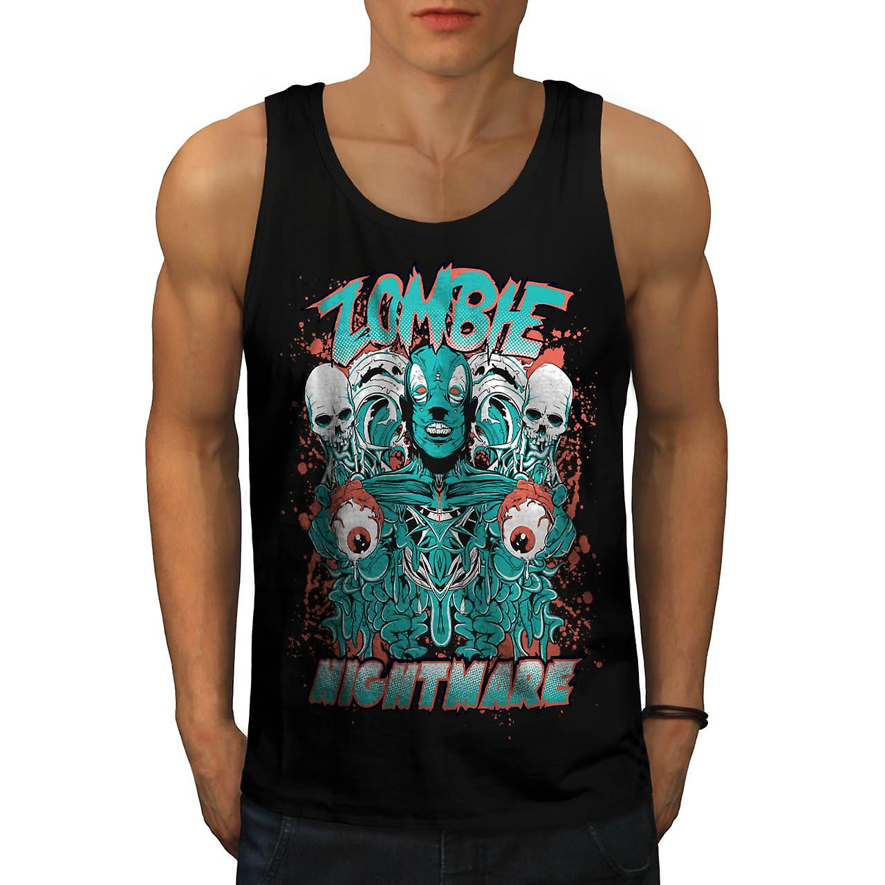 Dead Zombie Nightmare Evil Gang Men Black Tank Top | Wellcoda