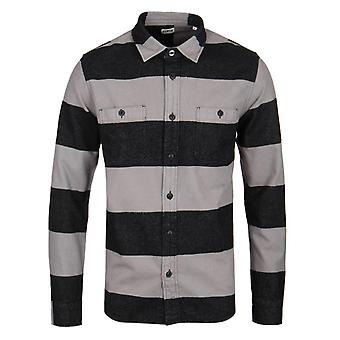 Edwin Grey & Black Heavy Striped Labour Shirt