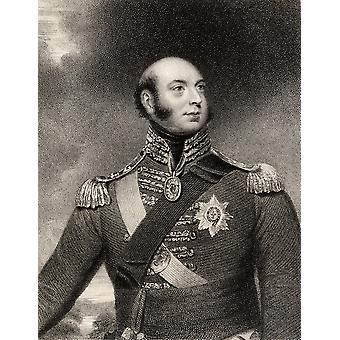 Prince Edward Augustus Duke Of Kent And Strathearn 1767 To 1820 Son Of King George Iii And Father Of Queen Victoria Engraved By E Scriven After Sir W Beechey From The Book National Portrait Gallery Vo