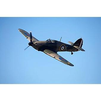 Hawker Hurricane inglesi e alleate della seconda guerra mondiale Fighter Plane Poster stampa di David Wall