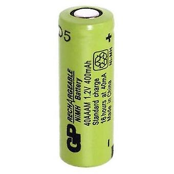 Non-standard battery (rechargeable) 2/3 AAA Flat top NiMH GP Batteries GP40AAAM 1.2 V 400 mAh