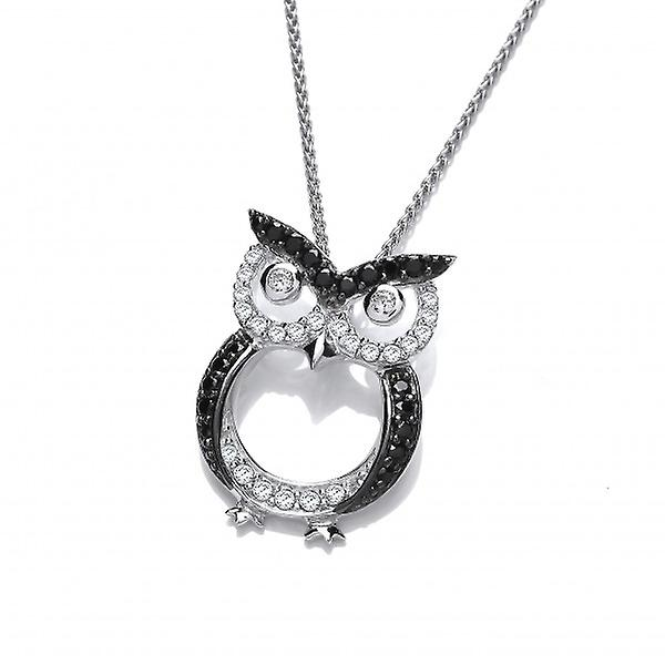 Cavendish French CZ and Silver Owl Pendant