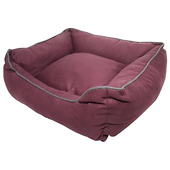 Dog Gone Smart Suede Lounger Bed Plum 56x51cm