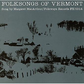 Margaret Macarthur - Folksongs of Vermont [CD] USA import