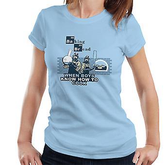 Bagning brød når drenge ved hvordan man laver Breaking Bad kvinder T-Shirt