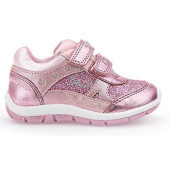 Geox Girls Shaax Trainers Metallic Pink