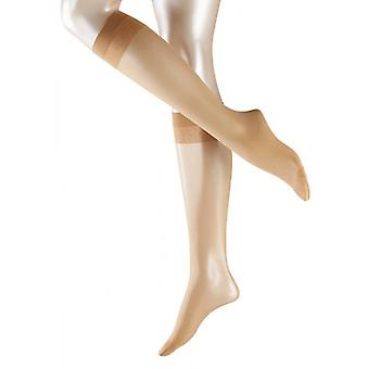 Falke Matt Deluxe 20 Denier Transparent Matt knä höga Tights - gyllene solbränna