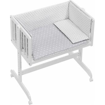 Interbaby Star co-sleeping with textile cradle Gray